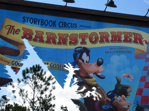 The new Barnstormer is a thrilling ride for little Disney fans.