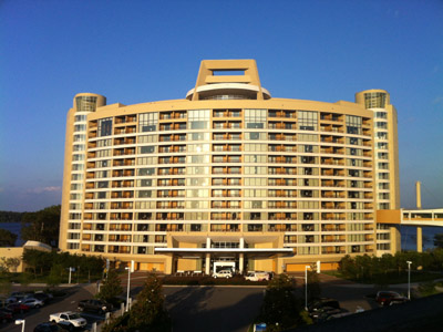 Bay Lake Tower is a prominent DVC facility next to the Magic Kingdom.