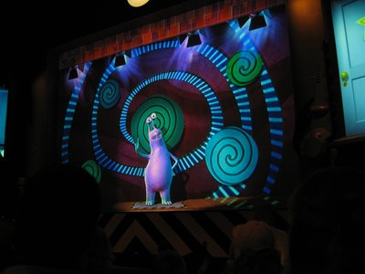 Get recognized by a monster at the Laugh Floor.