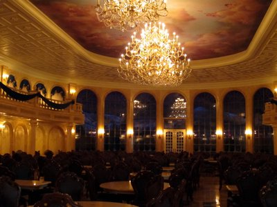 The Be Our Guest ballroom is a centerpiece of the new restaurant, but there is plenty more to see.
