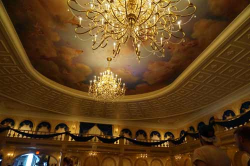 The Ballroom is one of three dining areas in which you can eat at Be Our Guest.