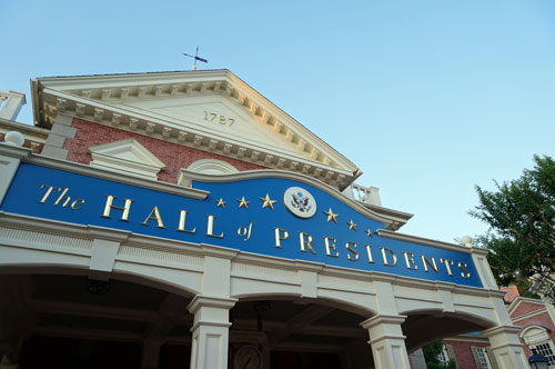 The Hall of Presidents: history and air conditioning.