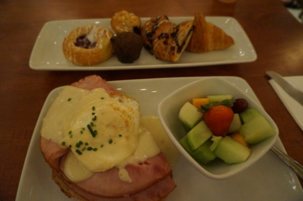 You can enjoy breakfast at Be Our Guest!