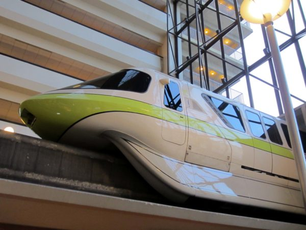 The monorail runs right through the middle of Disney's Contemporary Resort.