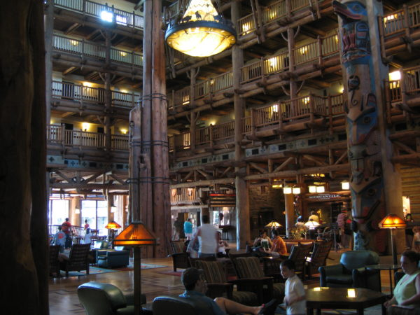Disney's Wilderness Lodge has a natural, comfortable feel.