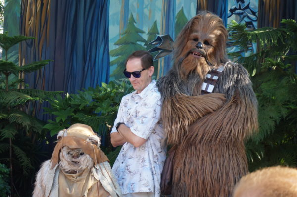 Chewbacca is a really fun Star Wars character to meet!
