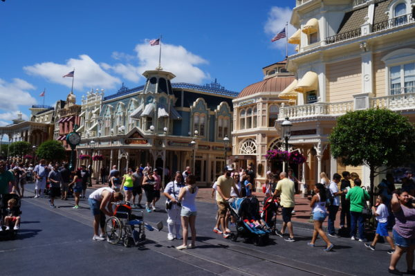 Main Street USA is a great mid-day walk!