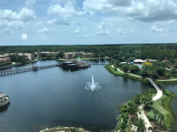 Disney's Coronado Springs offers some great places to walk, and you can even go on a scavenger hunt!