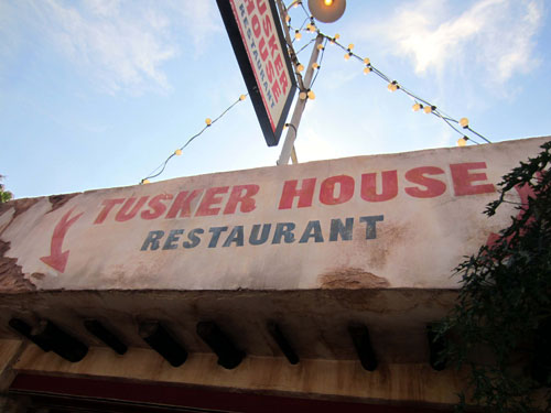 Tusker House looks rustic but the food is amazing.