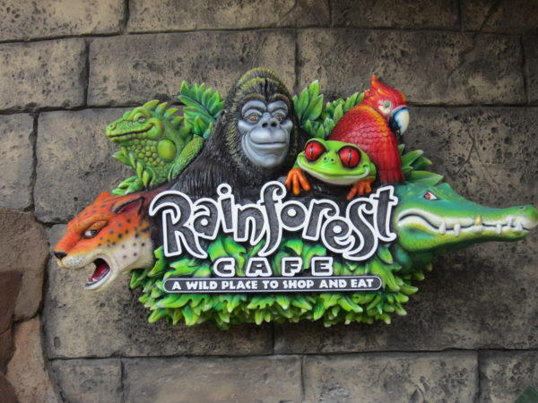 Rainforest Cafe consistently ranks last on the list.