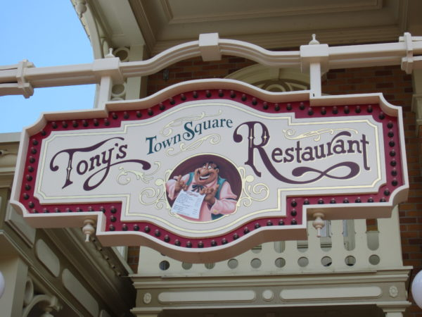 Tony's Town Square Restaurant is a last resort when it comes to table-dining in Magic Kingdom.