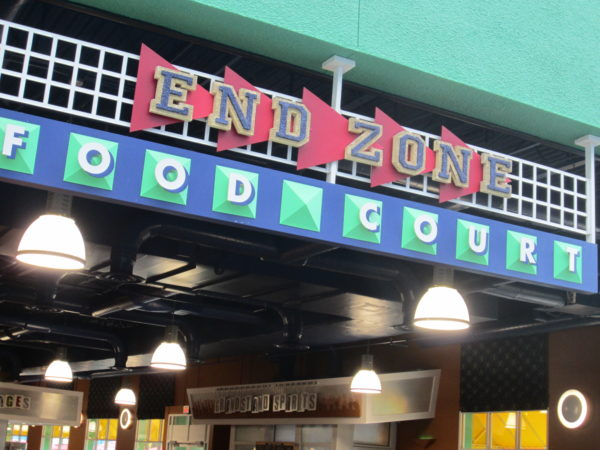 End Zone Food Court is perfect for the large groups of high school students that frequent this hotel.