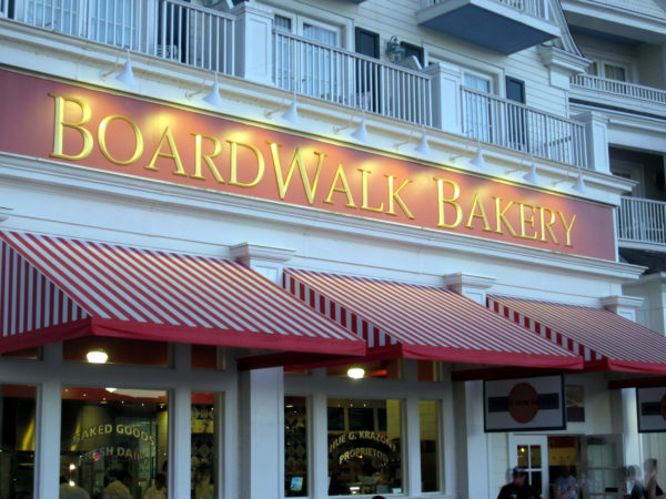 Stop by the Boardwalk Bakery for some freshly-baked treats.