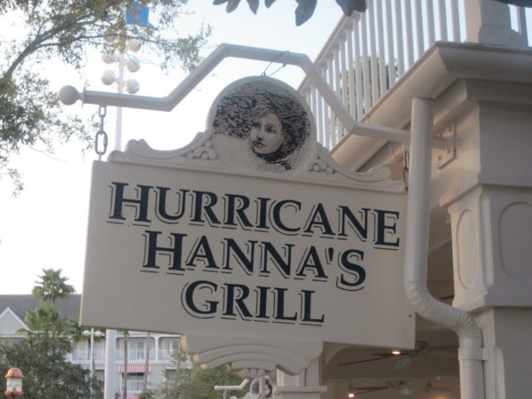 Hurricane Hanna's Grill is near the very popular Stormalong Bay.