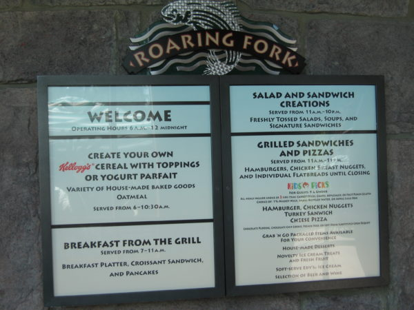 Roaring Fork has a small but satisfying menu.
