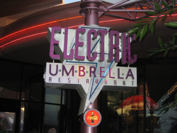 Electric Umbrella has free refills on soft drinks!