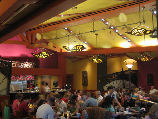Kona Cafe has a fun South Pacific theme.