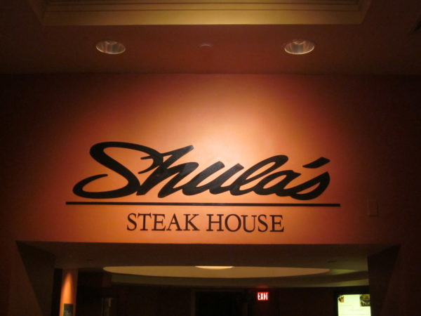 Shula's has some of the best steak in Orlando.