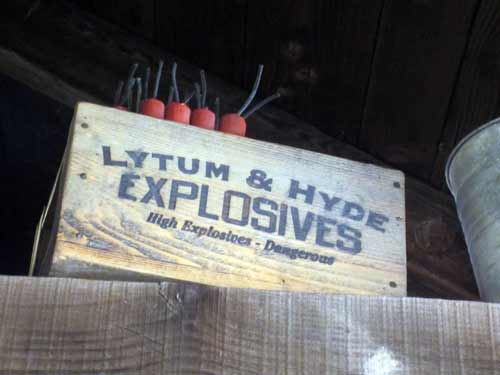Watch out for explosives on Big Thunder Mountain.