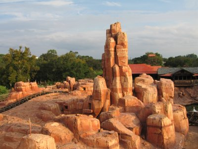 The rocks of Big Thunder Mountain Railroad are beautiful.