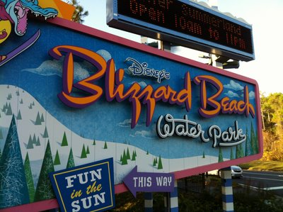Disney's Blizzard Beach Water Park offers fun in the sun - all with a snowy theme.