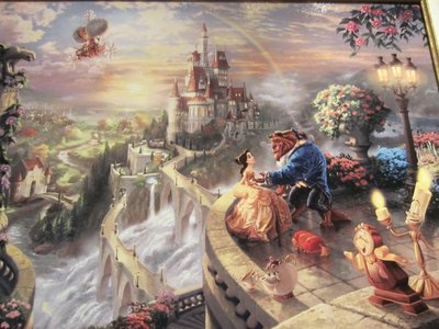 Got some big bucks to spend?  Check out Beauty and the Beast - by Thomas Kinkade - Framed Canvas - $2295.