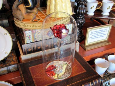 Just inside the store you are greeted with this glass rose - it looks very delicate.