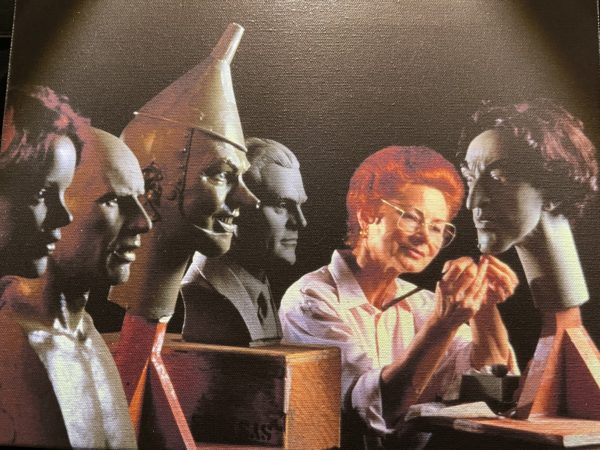 Sculptor Magda Flaire puts a fine touch on busts for The Great Movie Ride, including several figures featured in the Wizard of Oz sequence. Photo credits (C) Disney Enterprises, Inc. All Rights Reserved