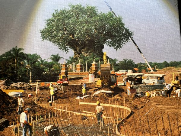The 145-foot tall Tree of Life, featuring over 300 animals carved into its trunk and surrounding roots nears completion at Disney's Animal Kingdom. Photo credits (C) Disney Enterprises, Inc. All Rights Reserved