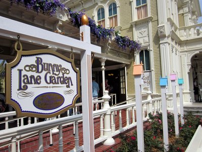 You can find Mr. and Mrs. Easter Bunny on Bunny Lane Garden in the Magic Kingdom.
