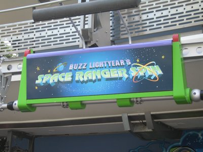 Buzz Lightyear attraction in Tomorrowland