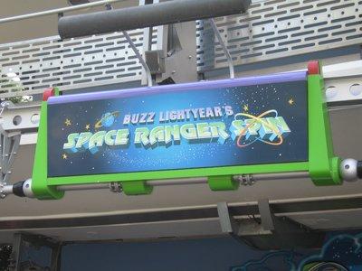 Buzz Lightyear attraction in Tomorrowland