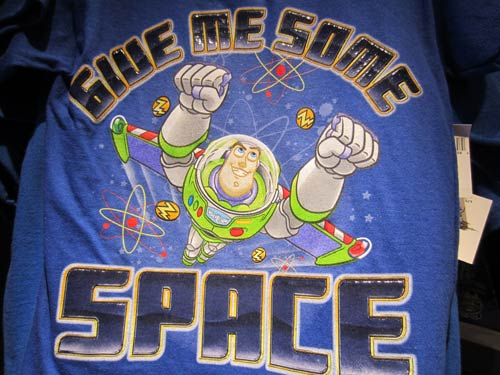 There is plenty of Buzz merchandize, like this t-shirt.