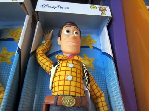 But you can find many other Toy Story characters too - like Woody.