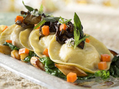 The squash ravioli looks delicious. Photo credits (C) Disney Enterprises, Inc. All Rights Reserved
