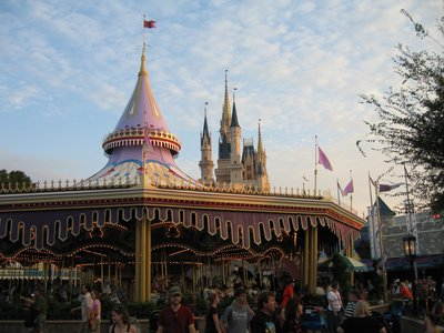 The Price Charming Carrousel is located just behind Cinderella Castle.