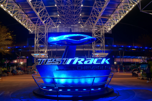 Test Track is one of the best thrill rides for car lovers in Disney World.