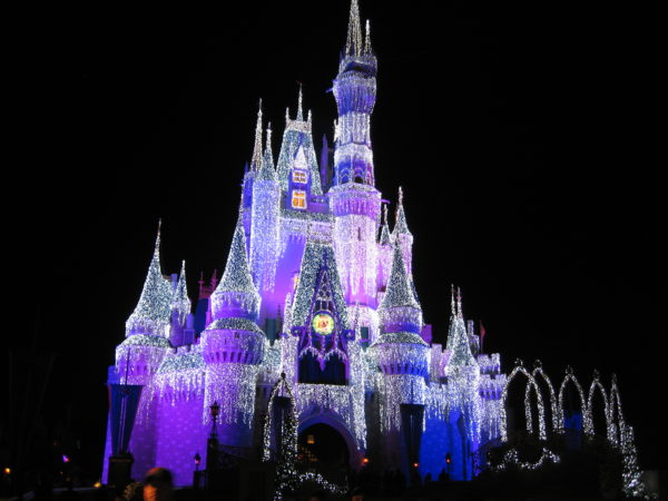 Cinderella Castle won't be an Ice Castle this year. Instead, Disney created four Christmas-themed overlays!