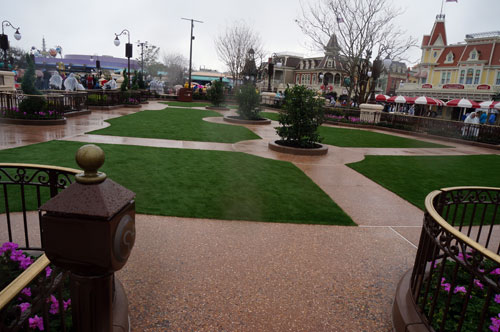 The reserved areas feature artificial grass.
