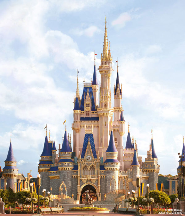 Cinderella Castle will get permanent gold accents. Photo credits (C) Disney Enterprises, Inc. All Rights Reserved