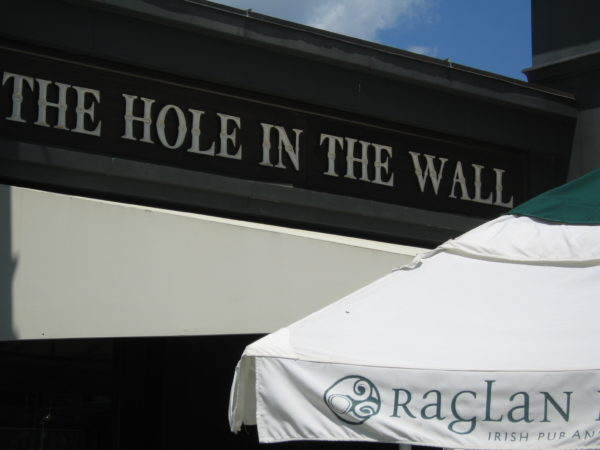 The Hole in the Wall is one of two outdoor bars at Raglan Road.