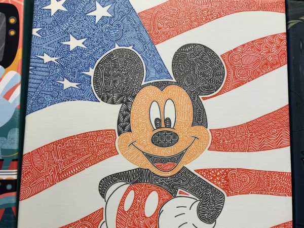 Patriot Mickey. Check out the line details in the color areas.