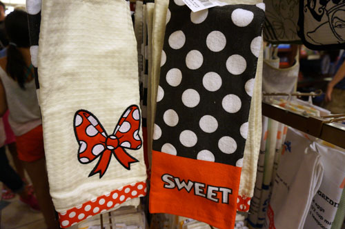 Two Minnie Mouse towels.