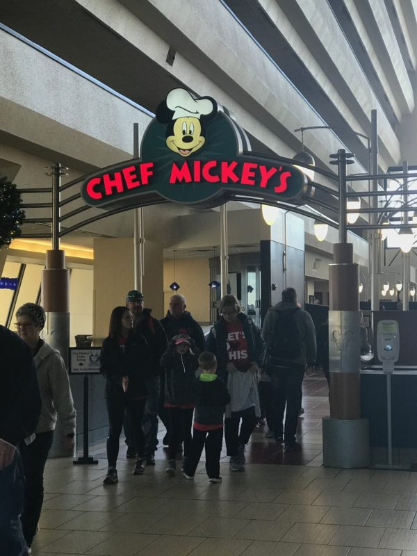 Chef Mickey's is in the lobby of Disney's Contemporary Resort near the other restaurants.