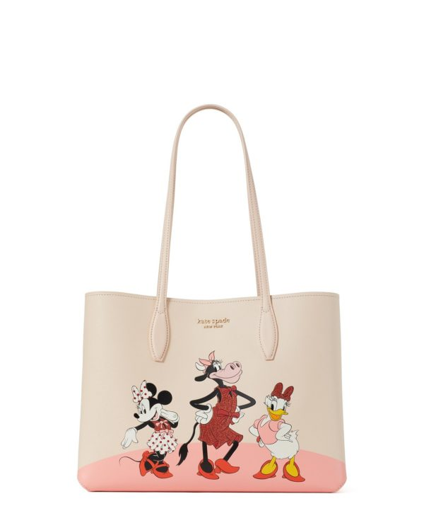 Disney X Kate Spade New York Clarabelle & friends large tote. Large tote is decorated with Clarabelle, Minnie and Daisy in celebration of the year of the ox. MSRP: $248.00 Available in Kate Spade New York stores. Photo credits (C) Disney Enterprises, Inc. All Rights Reserved
