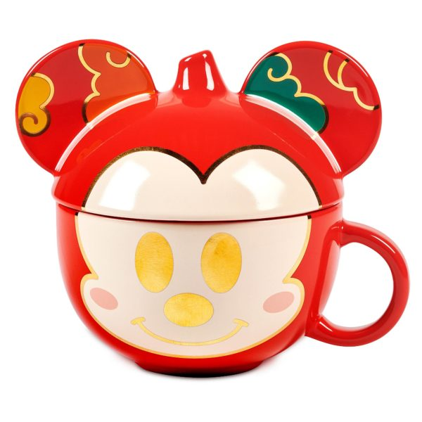 Mickey Mouse Figural Mug with Lid. Description: Dream of good fortune in 2021 while steeping your most special tea in Mickey Mouse's covered mug celebrating Lunar New Year. $19.99. Available at shopDisney.com and Downtown Disney District at Disneyland Resort. Photo credits (C) Disney Enterprises, Inc. All Rights Reserved