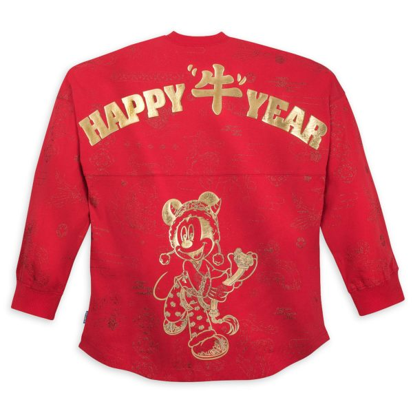 Mickey Mouse Disneyland Spirit Jersey for Adults – Lunar New Year 2021. Celebrate the Year of the Ox in this stylish Spirit Jersey with golden Lunar New Year graphics, direct from Disneyland Resort. $74.99 Available at shopDisney.com and Downtown Disney District at Disneyland Resort. Photo credits (C) Disney Enterprises, Inc. All Rights Reserved