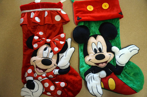 The prize pack starts off with two Christmas stockings.