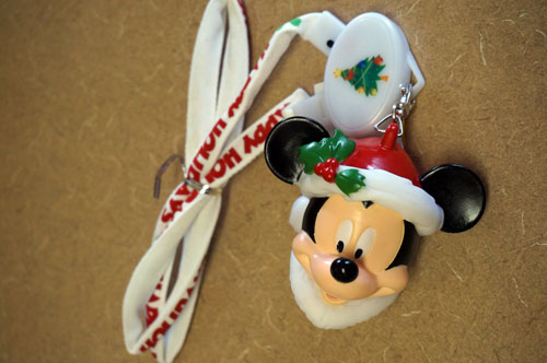 Light-up Mickey Mouse lanyard.