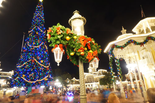The Magic Kingdom comes alive at Christmas.